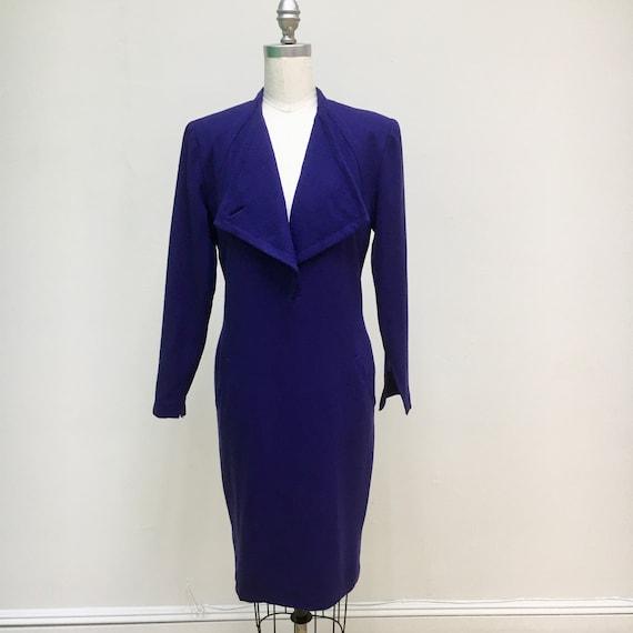 Sz. 10 1960's Pauline Trigère Wool Dress - image 1