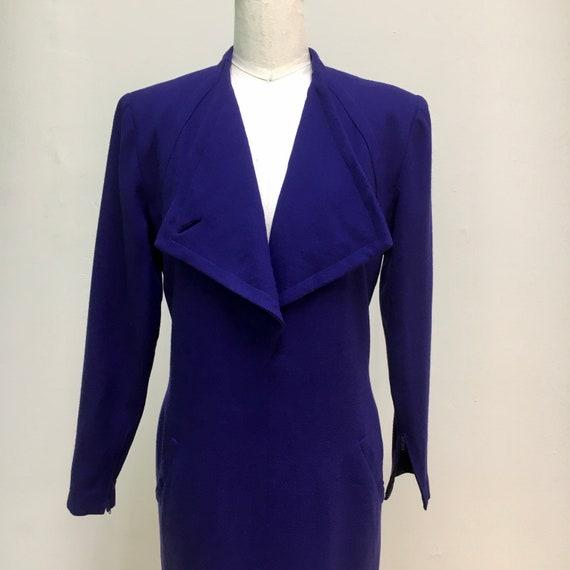 Sz. 10 1960's Pauline Trigère Wool Dress - image 2