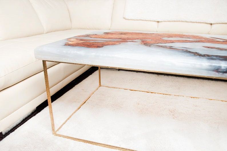 Silver Epoxy Resin Table Top
