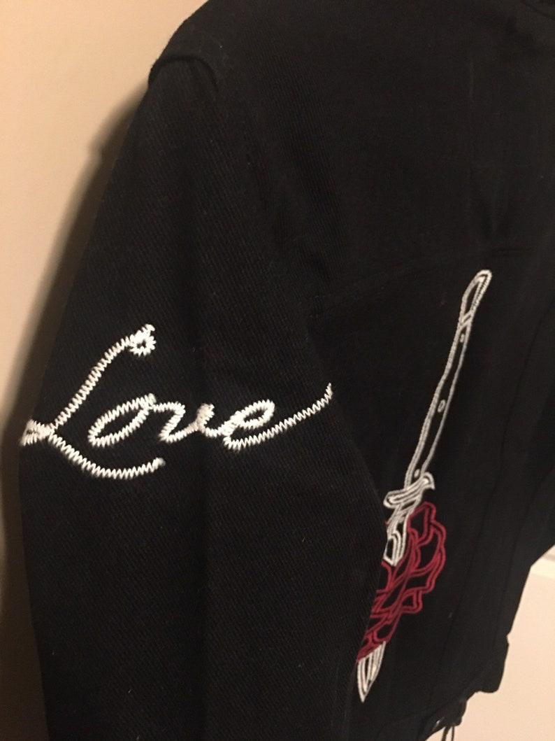 G Eazy black denim jacket