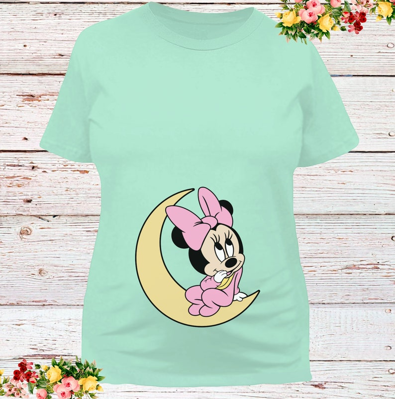 Mommy Mouse Maternity Pregnancy Shirt New Mom Disney Pregnancy Disney Shirt Baby Minnie Mouse Maternity Style Shirt Baby Bump Shirt