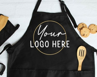 Logo Apron,Personalized Apron with pockets, Custom Apron, Mens Aprons, Womens Apron, Custom Text Apron, Logo Apron, Personalized Apron