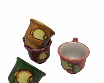 Italian Ceramic Espresso Cup Set of 4