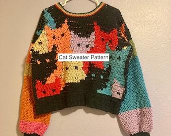 PATTERN Cat Sweater Crochet