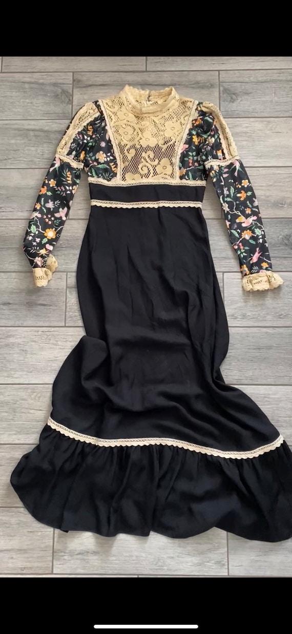 60s/70s Black Label Gunne Sax Prairie Dress
