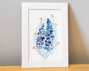 Abstract Floral Watercolor Painting - Original