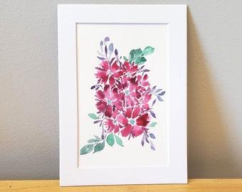 Pretty Pink Flowers Painting - Original