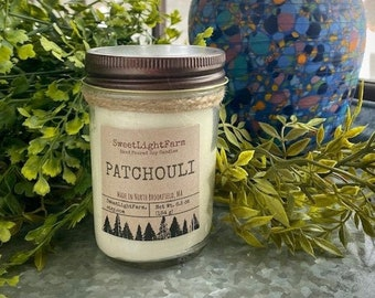 Hand Poured Small Batch Soy Candles-Patchouli