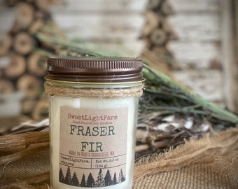 Hand Poured Small Batch Soy Candles-Fraser Fir