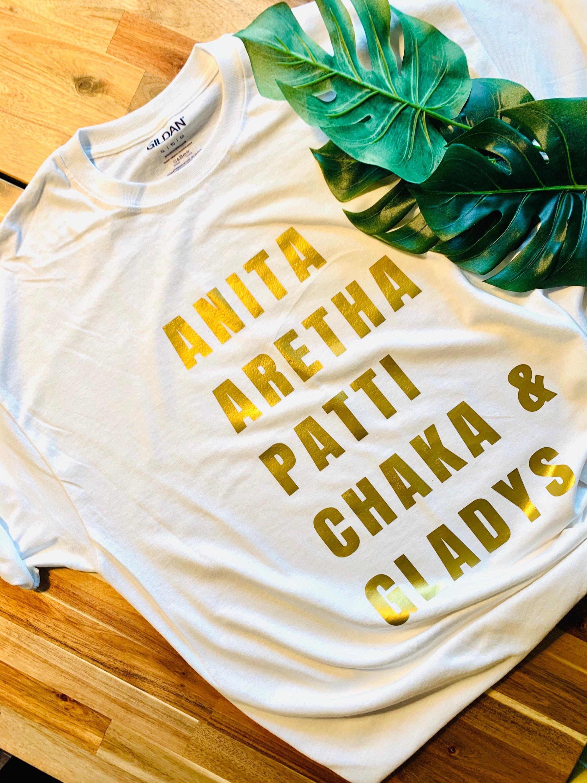 Men\u2019s Anita Aretha Patti Chaka Gladys Shirt Women\u2019s T Shirt Unisex