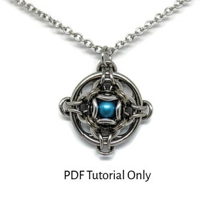 Captured Ball Kit PDF Tutorial Included Make it Yourself DIY Titanium Ball Bearing Kit Hoodoo Hex Squared Pendant Chainmaille Kit