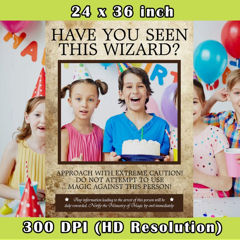 Wizard Wanted Photo Booth Digital Photobooth Wizard Photo Booth Frame