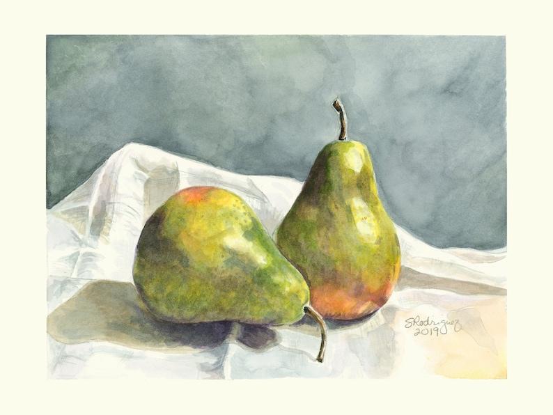 still life The Moody Pair Pears Print