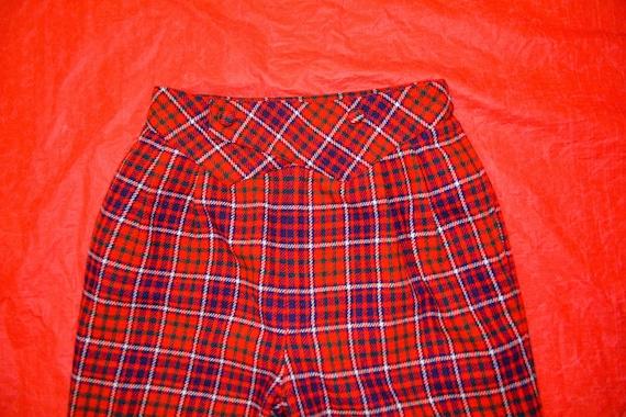 80s-Esque Plaid Holiday Pants - image 3