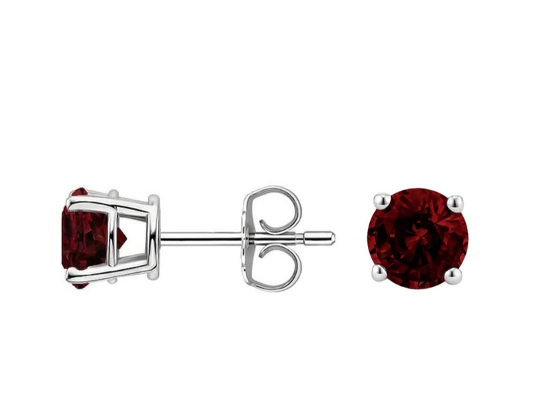 Natural Garnet Silver Earing 925 Sterling Silver Gemstone Erring Wedding Earring Anniversary Gift Earring Best Gift For HerEarring Sat