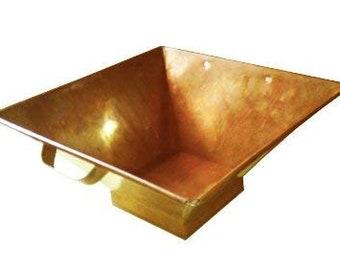 Havan/Yagna Kund for Vedic Hawan Rituals (Small, Copper)