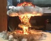 DIY Missile Mushroom Cloud, Creative Decorative Lamp Table Lamp, Glowing Explosion Atomic Bomb Nuclear Cloud Model Decoration Gift