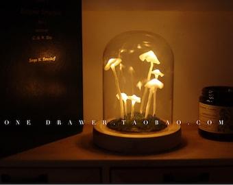 Hand-Made Original Night Light/Cute Retro Mushroom Night Light /Gift  Light/Handmade mushroom lamp
