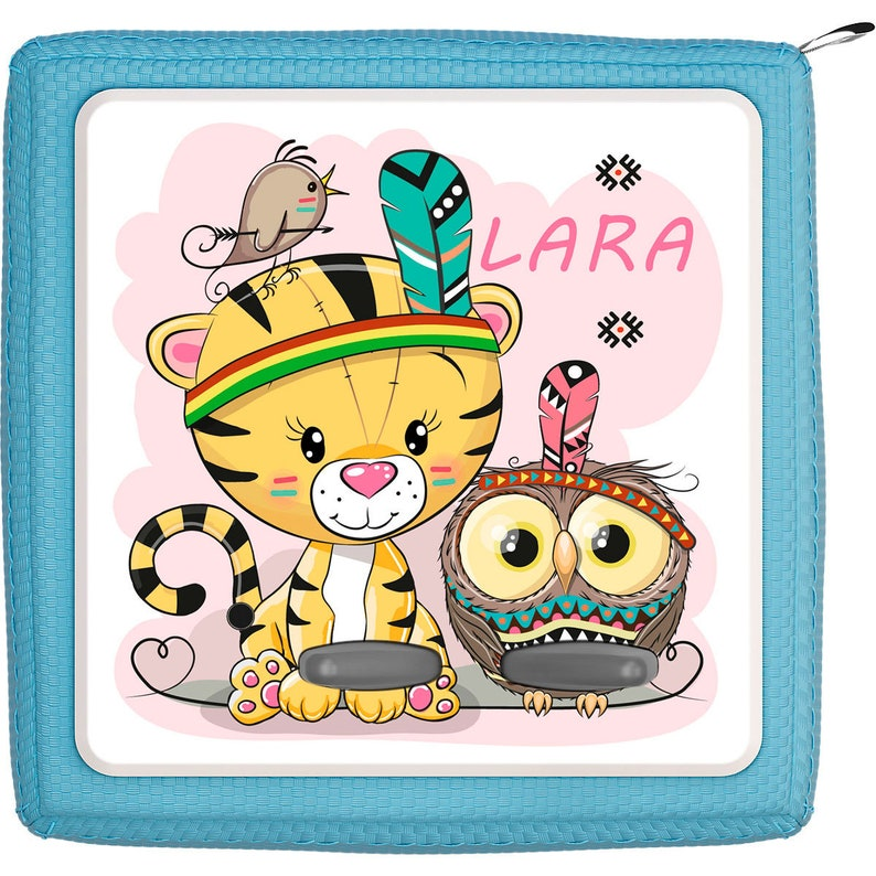 Lion and Owl as Indians Toniebox protective film with name customizable Protection film