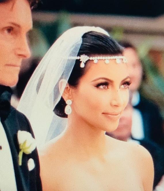 Kim Kardashian Wedding Hair Jewelry Tiara Etsy