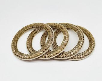 Antique Gold Polki Bangle/ Indian Bangles/ Gold Bangle/ Indian jewelry/Stone bangle - Set of 4 Bangles Size 2.8
