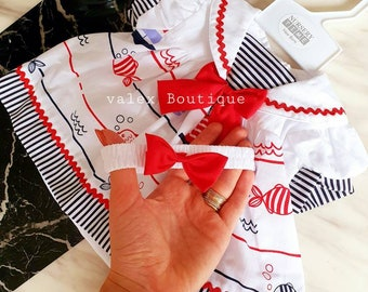 Spanish outfit Romany Style Baby Boy Checked Trouser Set