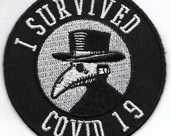 I survived Covid-19 patch patch, embroidered