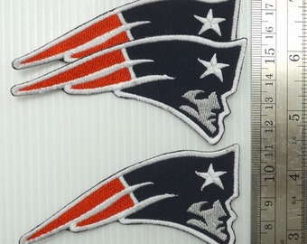 New England Patriots 5Pcs per pack Logo Patches on~Iron on ~ Sewing on Fabrics
