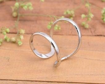 Arthritis Ring (both rings) , Splint Knuckle Ring, Thumb Ring, Woman ring ,Silver Ring for Women, Simple Midi Ring
