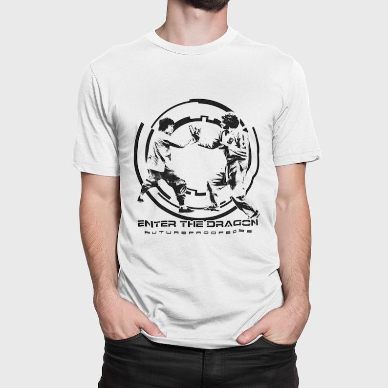 Bruce Lee v O/'Hara Kung Fu Fight T-Shirt Tee Streetwear Black Blue Red Yellow White Movie Film Fashion Enter The Dragon