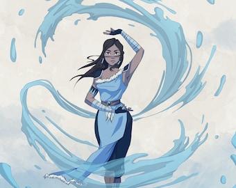 DIGITAL Avatar the Last Air bender Personalized Portrait