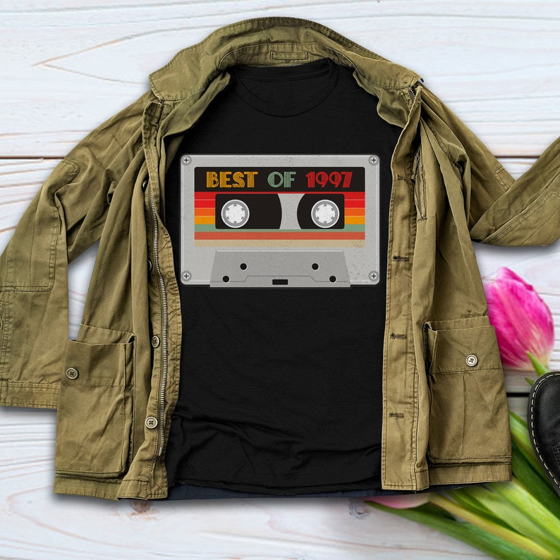 23rd Birthday Gifts 23 Years Old Born In 1997 Best Of 1997 Vintage T Shirt Cassette Tape Mixtape T Shirt