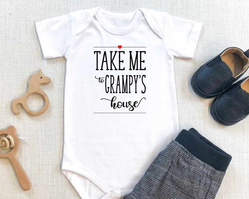 Christmas Infant or Newborn Newborn Gift Baby Shower Present Baby One Piece T-shirt Take Me To Grampy/'s House Baby Bodysuit Toddler