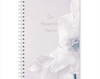 A5 Hardback Orchid Honeymoon Planner, Travel Journal Notebook