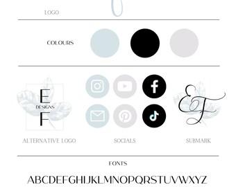Premade Logo Package, Small Business Design, Boho Feminine Logo
