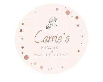Premade Logo, Bakery, Feminine Rose Gold Pink, Small Business Branding
