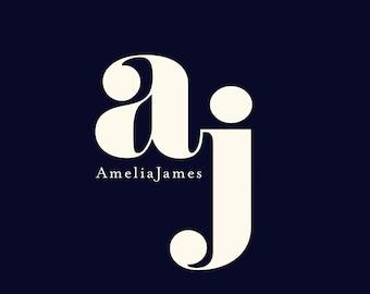 Premade Logo, Minimal Modern Logo, Small Business Branding, Chic, Stylist, Initials