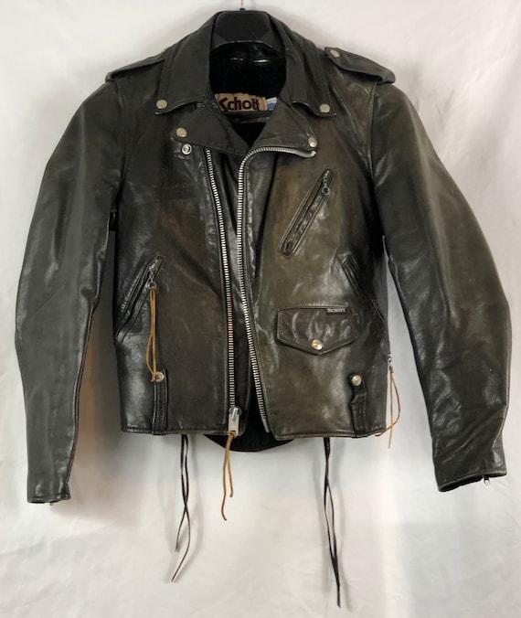 Vintage Men's Schott Leather Motorcycle Jacket
