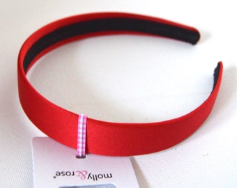 Pack of 3 Green Red Burgundy Black Thin 8mm Headband Alice Band FREE POSTAGE