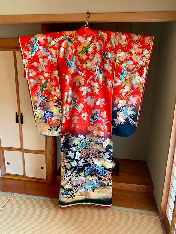 Uchikake/ Japanese wedding kimono/Vintage kimono/A