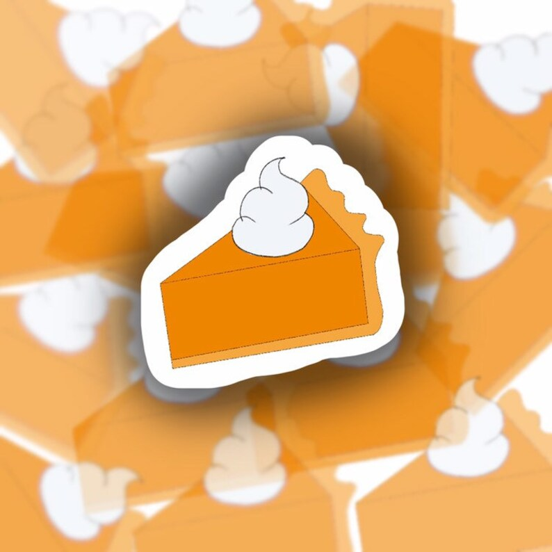 Pumpkin Pie  Water Resistant Sticker image 0