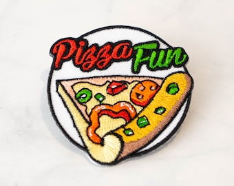 Cheesy Pepperoni New York Pizza Slice Iron On Travel Patch