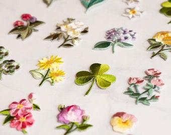 Set of 2pcs 3pcs 4pcs bulk Flower Patches, Embroidered Iron On Patch,Cool Patches, High quality Patch,Gift Idea,Fashion 2 Inch Iron patch