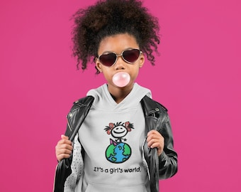 It's a Girl's World Youth Hoodie