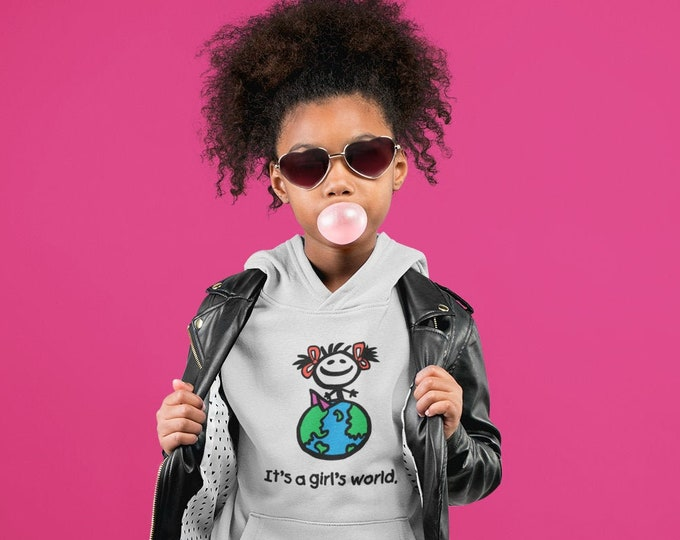 Featured listing image: It's a Girl's World Youth Hoodie