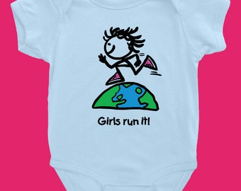 Girls Run It! Infant Onesie