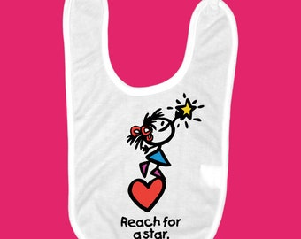 Reach For A Star Baby Bib