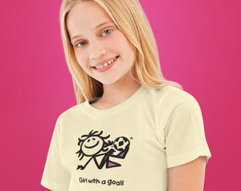 Girl With A Goal Unisex Adult T Shirt