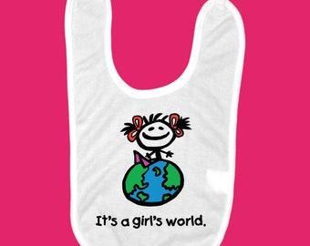 It's A Girl's World Baby Bib