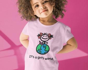 It's A Girl's World Toddler T Shirt